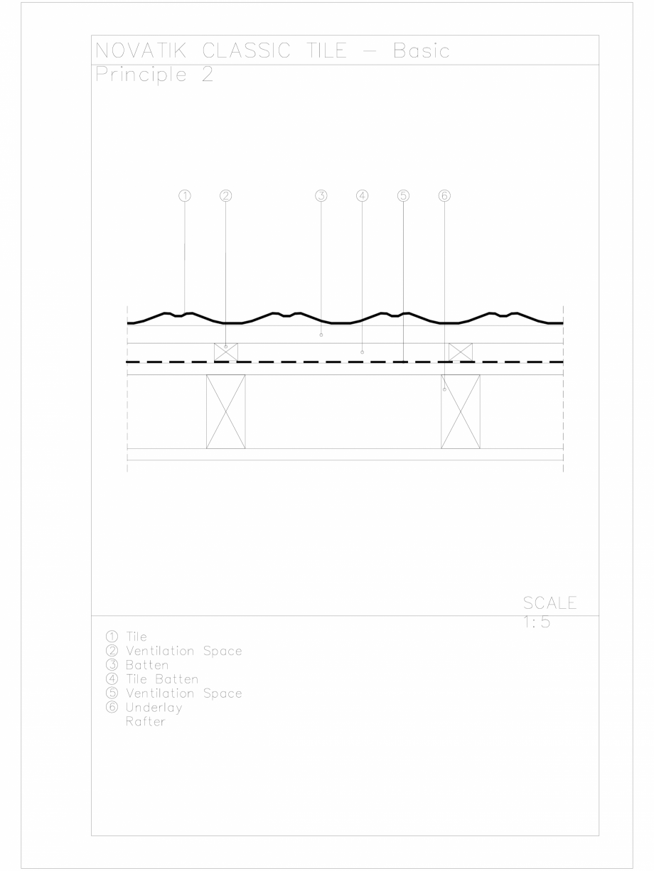 Pagina 1 - CAD-DWG Novatik Classic Tile _ 03 Basic Principle 2 Novatik NATURA Detaliu de produs