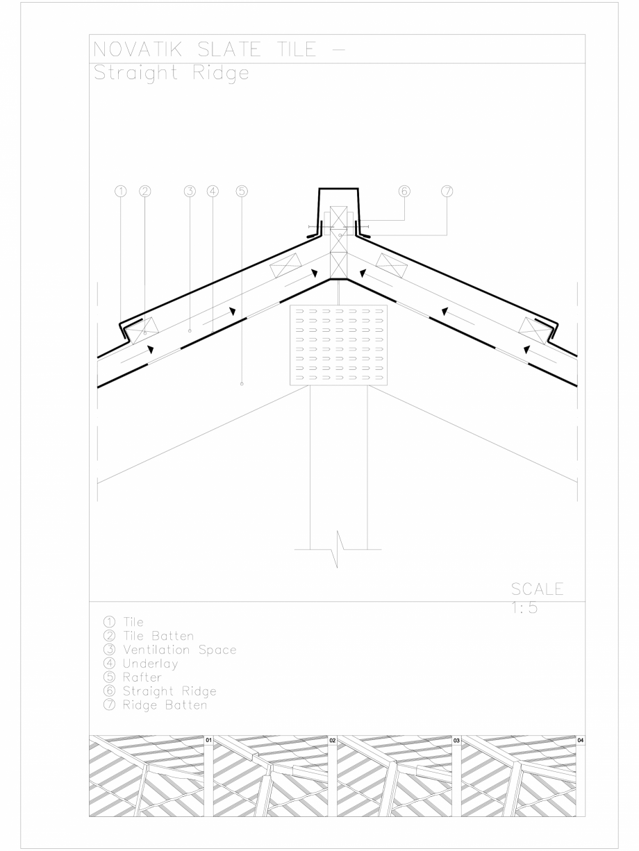 Pagina 1 - CAD-DWG Novatik Slate Tile _ 04 Ridge_Straight Novatik NATURA Detaliu de produs