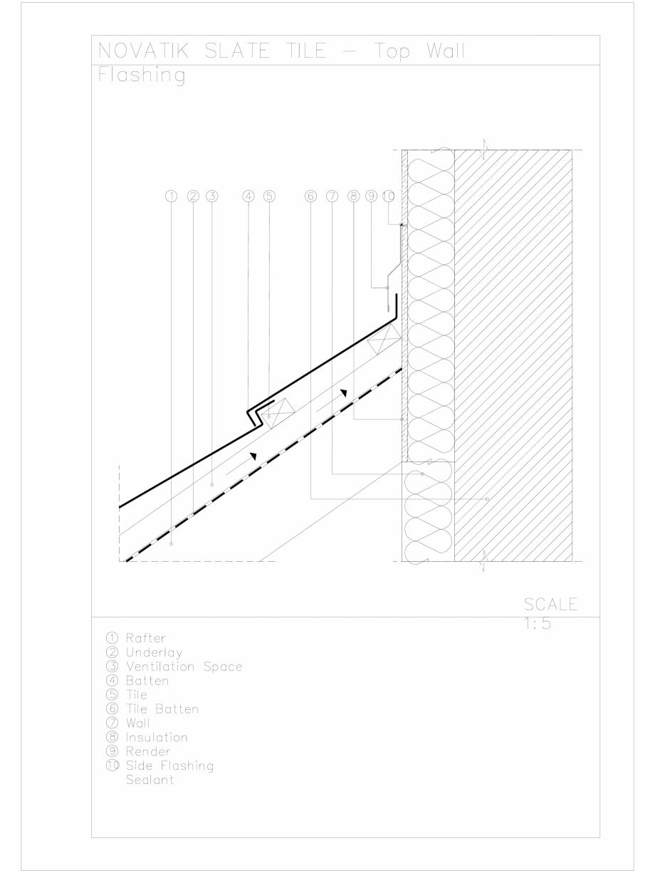 Pagina 1 - CAD-DWG Novatik Slate Tile _ 08 Wall Flashing 2 Novatik NATURA Detaliu de produs