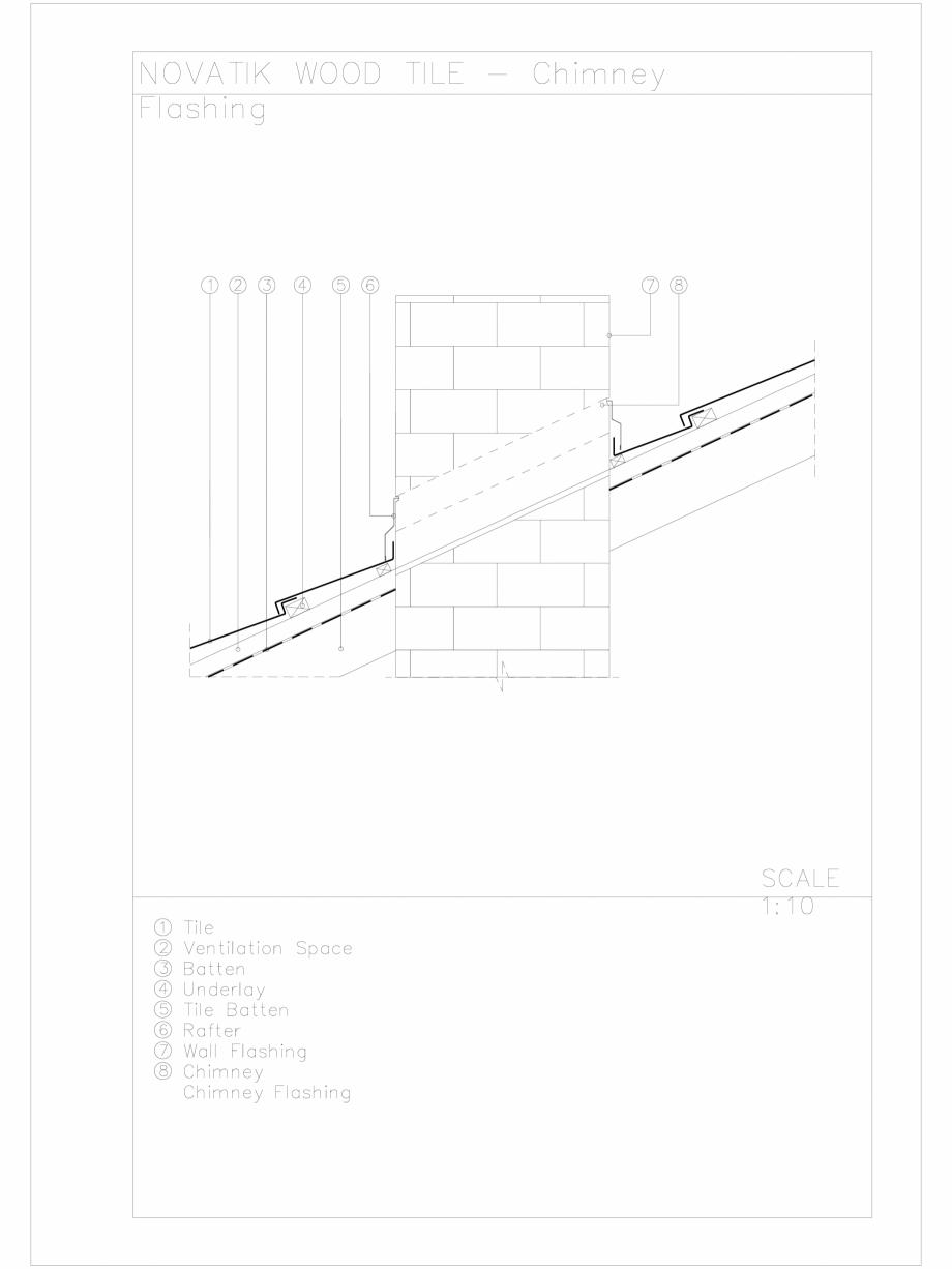 Pagina 1 - CAD-DWG Novatik Wood Tile _ 07 Chimney Flashing 2 Novatik NATURA Detaliu de produs