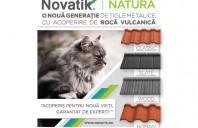 Tigle metalice cu acoperire de roca vulcanica  Novatik NATURA