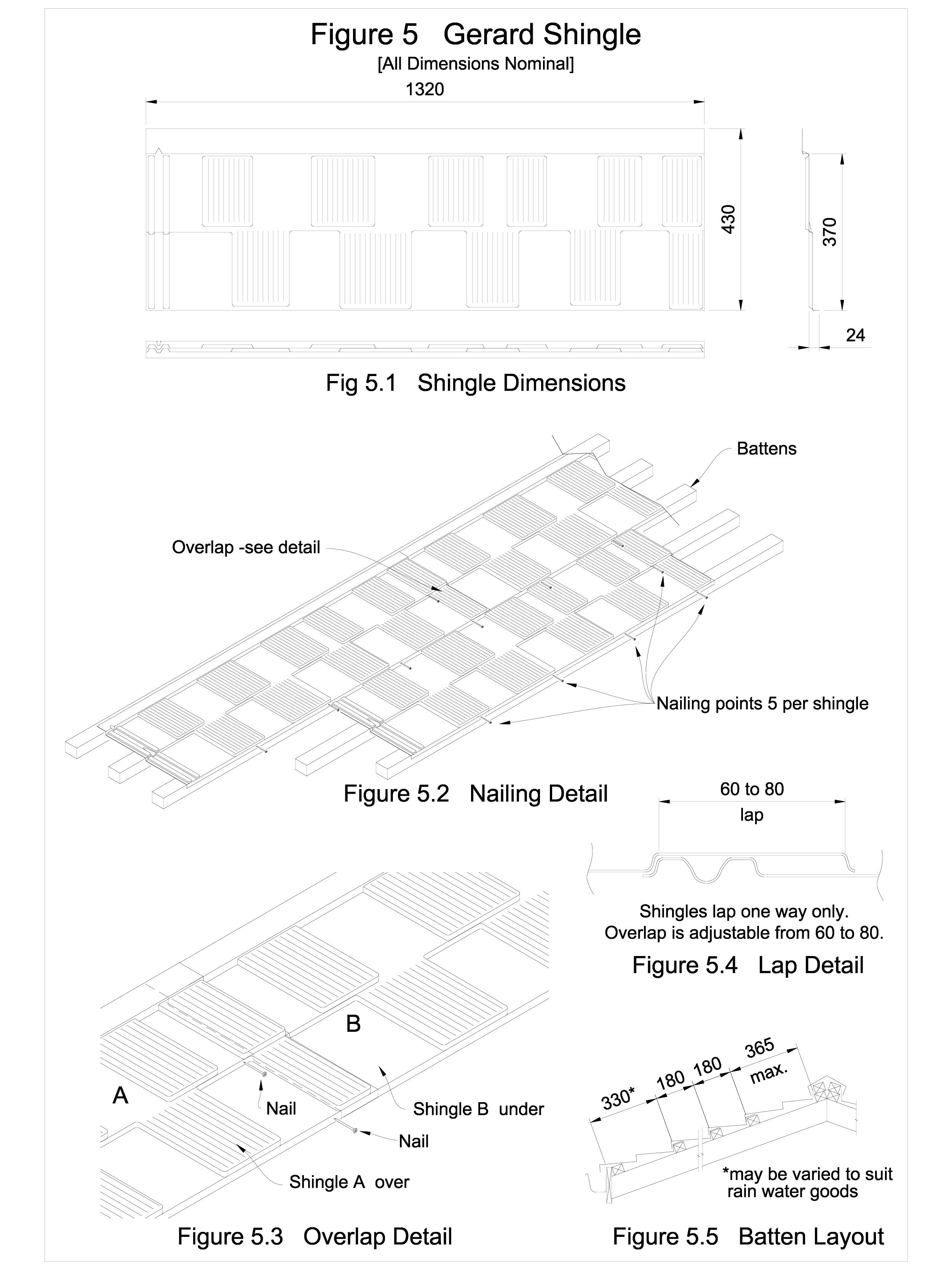 Detaliu de imbinare in camp, invelitori din tabla tip tigla SHINGLE GERARD Acoperis cu tigla metalica cu acoperire de piatra naturala FINAL DISTRIBUTION  - Pagina 1