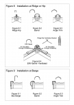 Invelitori de tabla tip tigla, detaliu de coama si de timpan GERARD