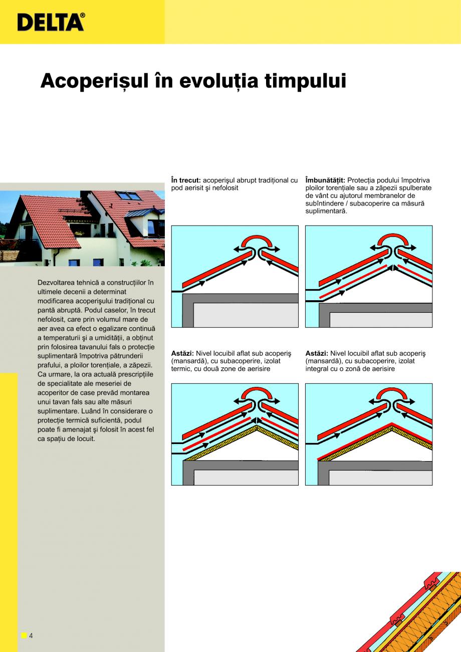 Pagina 5 - Sisteme de acoperisuri DELTA DELTA Catalog, brosura Romana na de...