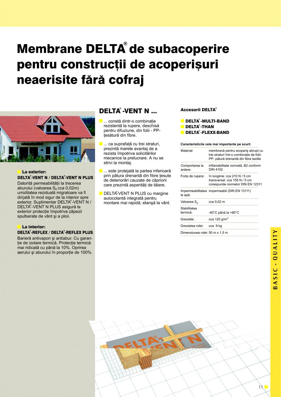 Pagina 12 - Sisteme de acoperisuri DELTA DELTA Catalog, brosura Romana rafaþe o valoare Sd £ 0,2 m...