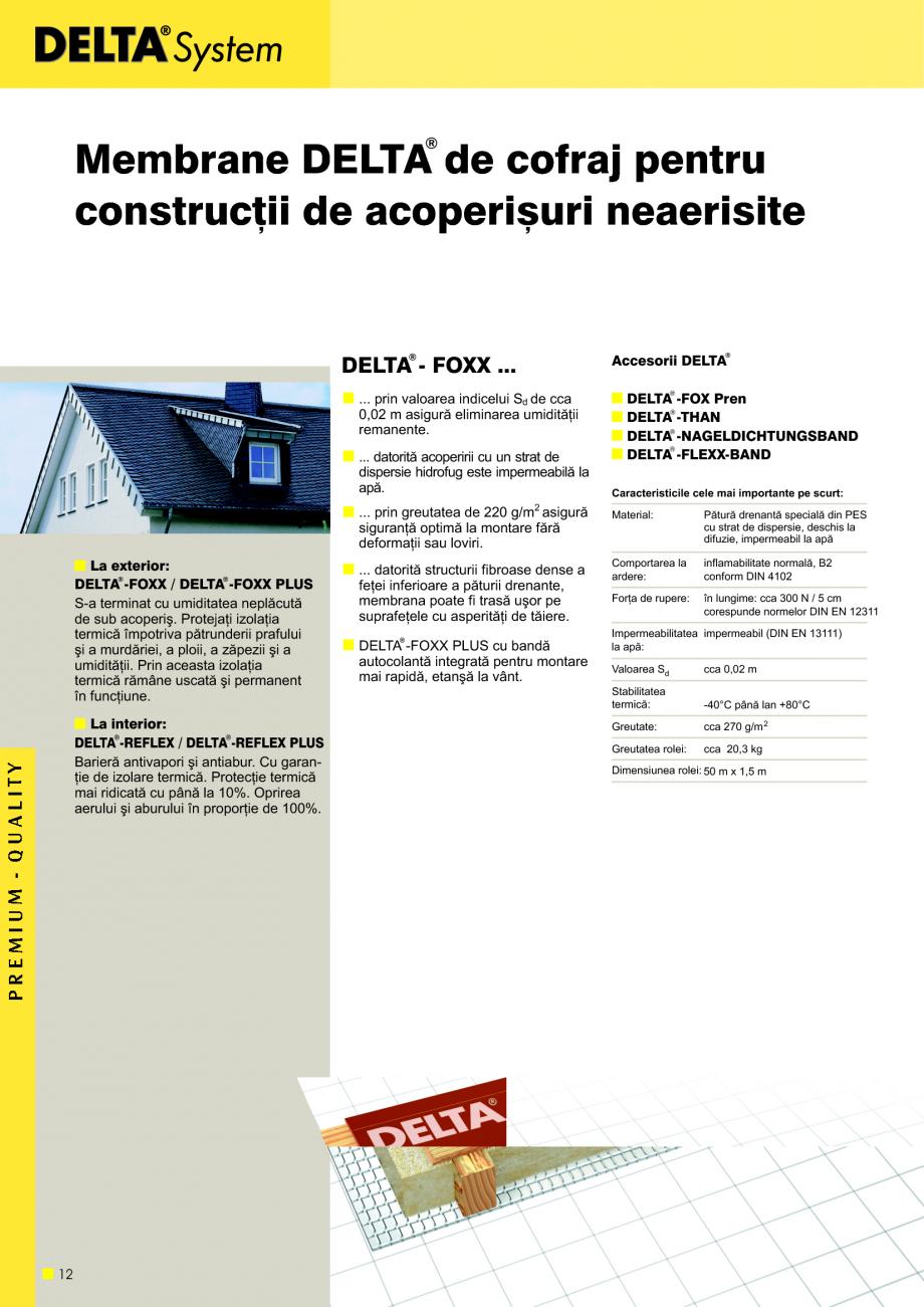 Pagina 13 - Sisteme de acoperisuri DELTA DELTA Catalog, brosura Romana de topire. Pentru Sdi = 0,25 ...