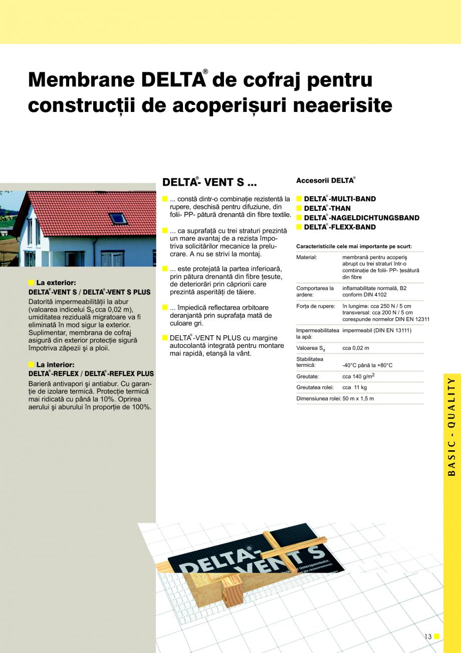 Pagina 14 - Sisteme de acoperisuri DELTA DELTA Catalog, brosura Romana sire înaltã de 2 cm. O...