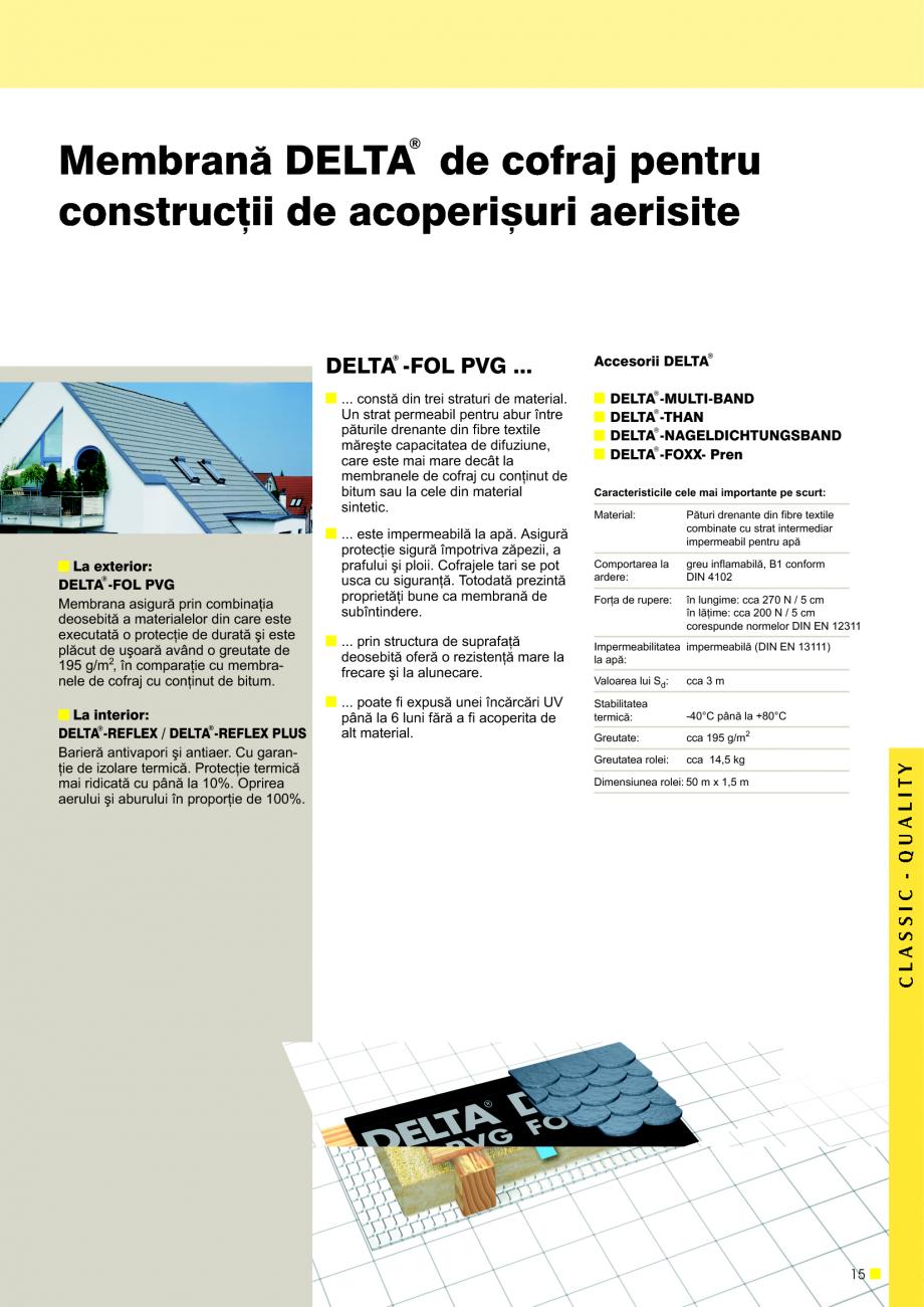 Pagina 16 - Sisteme de acoperisuri DELTA DELTA Catalog, brosura Romana valoare Sd de cca 2 m ºi a...