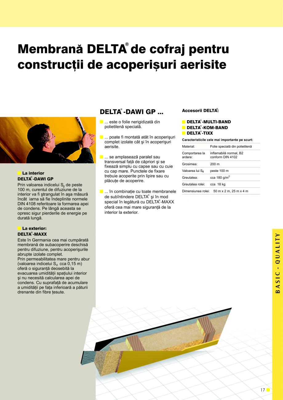 Pagina 18 - Sisteme de acoperisuri DELTA DELTA Catalog, brosura Romana ens  [m] Siguranþa la apa...