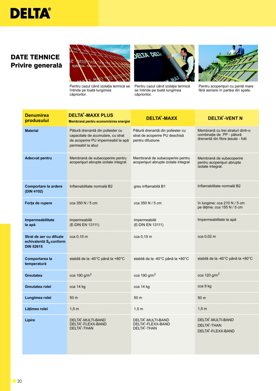 Pagina 21 - Sisteme de acoperisuri DELTA DELTA Catalog, brosura Romana : ® ® DELTA -REFLEX / DELTA...