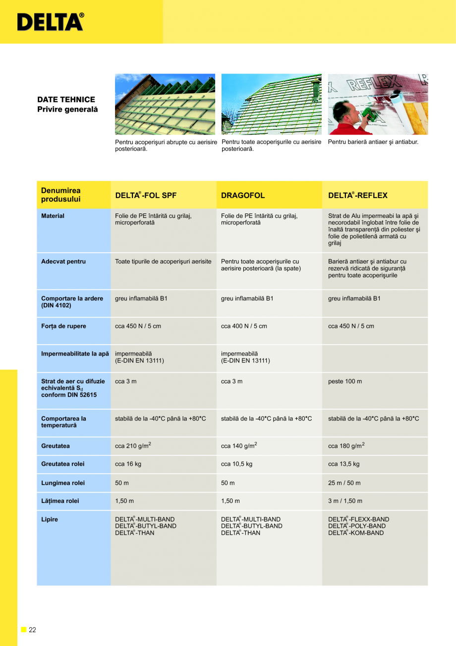 Pagina 23 - Sisteme de acoperisuri DELTA DELTA Catalog, brosura Romana  10%. Oprirea aerului ºi...
