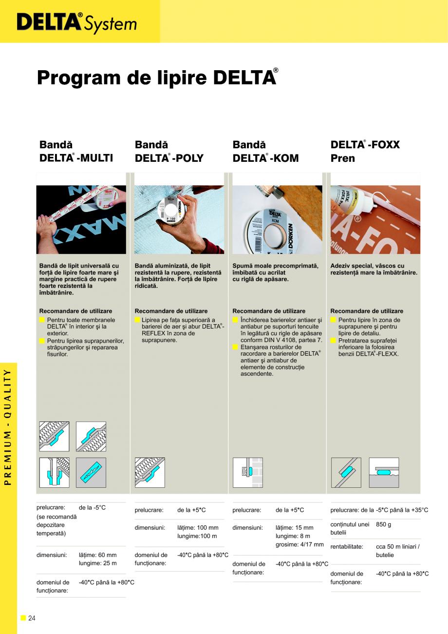 Pagina 25 - Sisteme de acoperisuri DELTA DELTA Catalog, brosura Romana lã, B2 conform DIN 4102 în ...