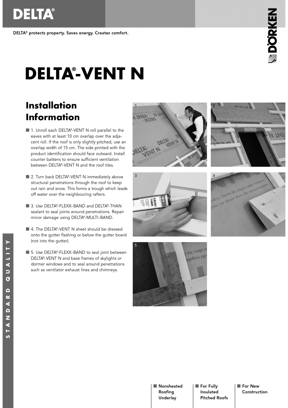 Instructiuni montaj, utilizare Membrane pentru acoperisuri neventilate fara astereala