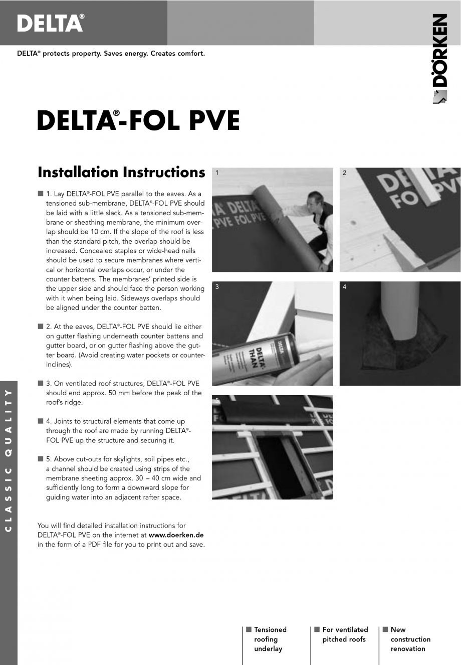 Instructiuni montaj, utilizare Membrane pentru acoperisuri ventilate cu astereala