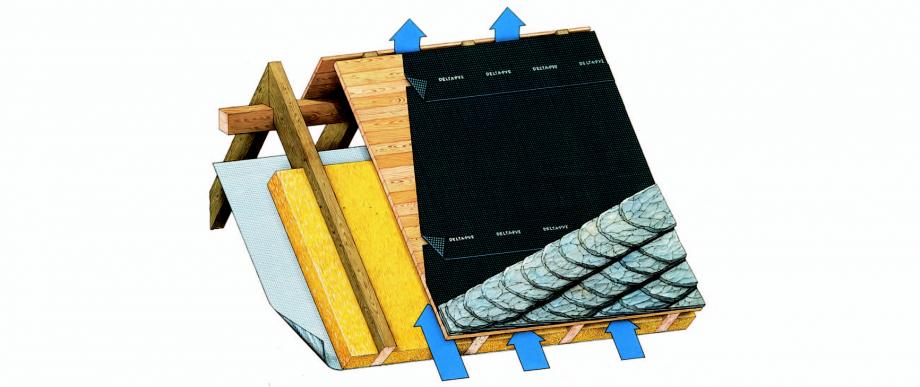 Instructiuni montaj, utilizare Schema de montaj, membrane pentru acoperisuri ventilate cu astereala FOL PVE DELTA Folii anticondens pentru toate sistemele de acoperisuri FINAL DISTRIBUTION  - Pagina 1