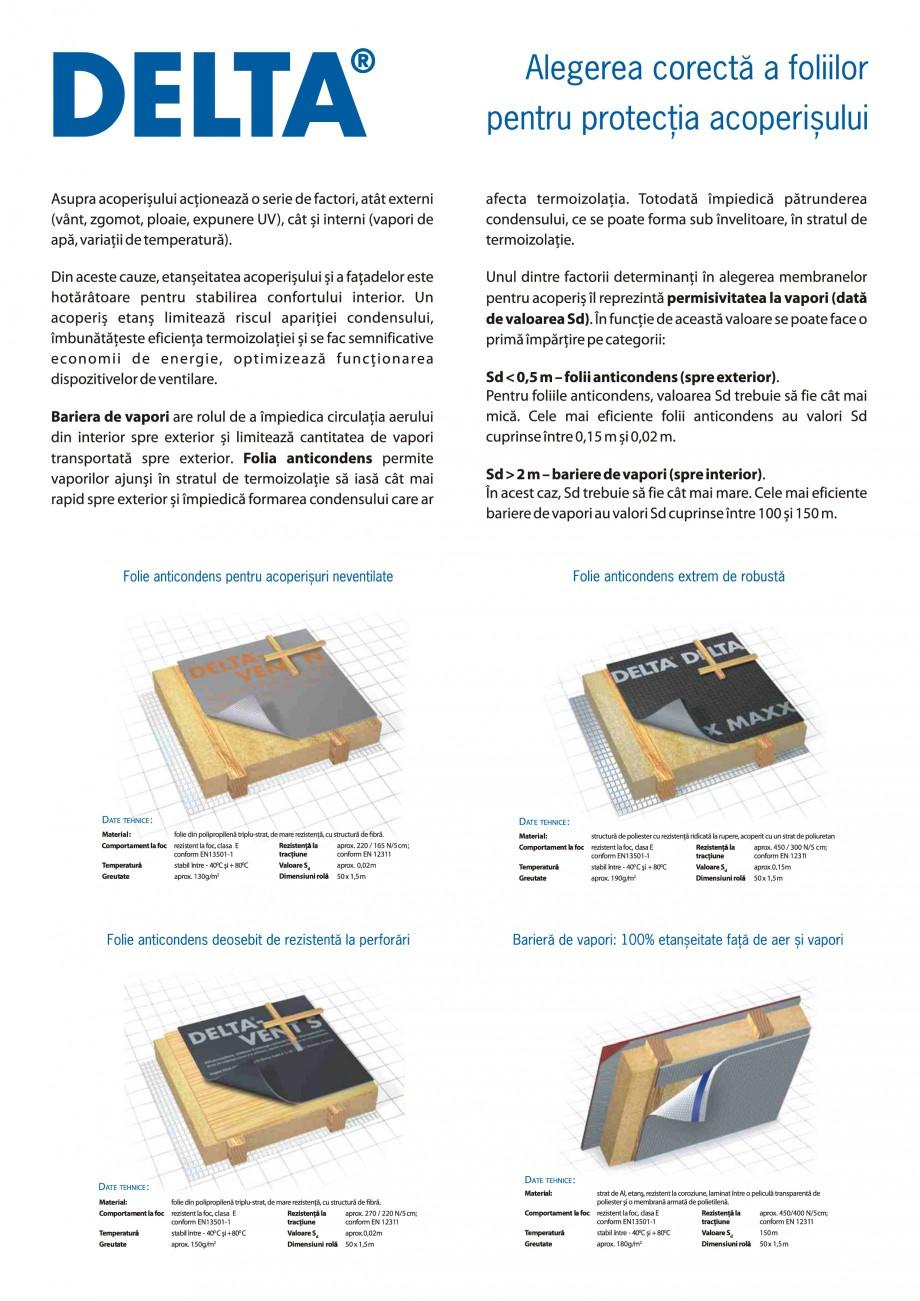 Pagina 1 - Alegerea corecta a foliilor pentru protectia acoperisului DELTA MAXX PLUS, MAXX, VENT N, ...