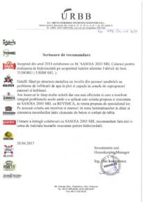 Scrisoare de recomandare URBB