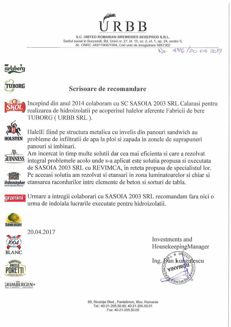 Pagina 1 - Scrisoare de recomandare URBB  Lucrari, proiecte Romana