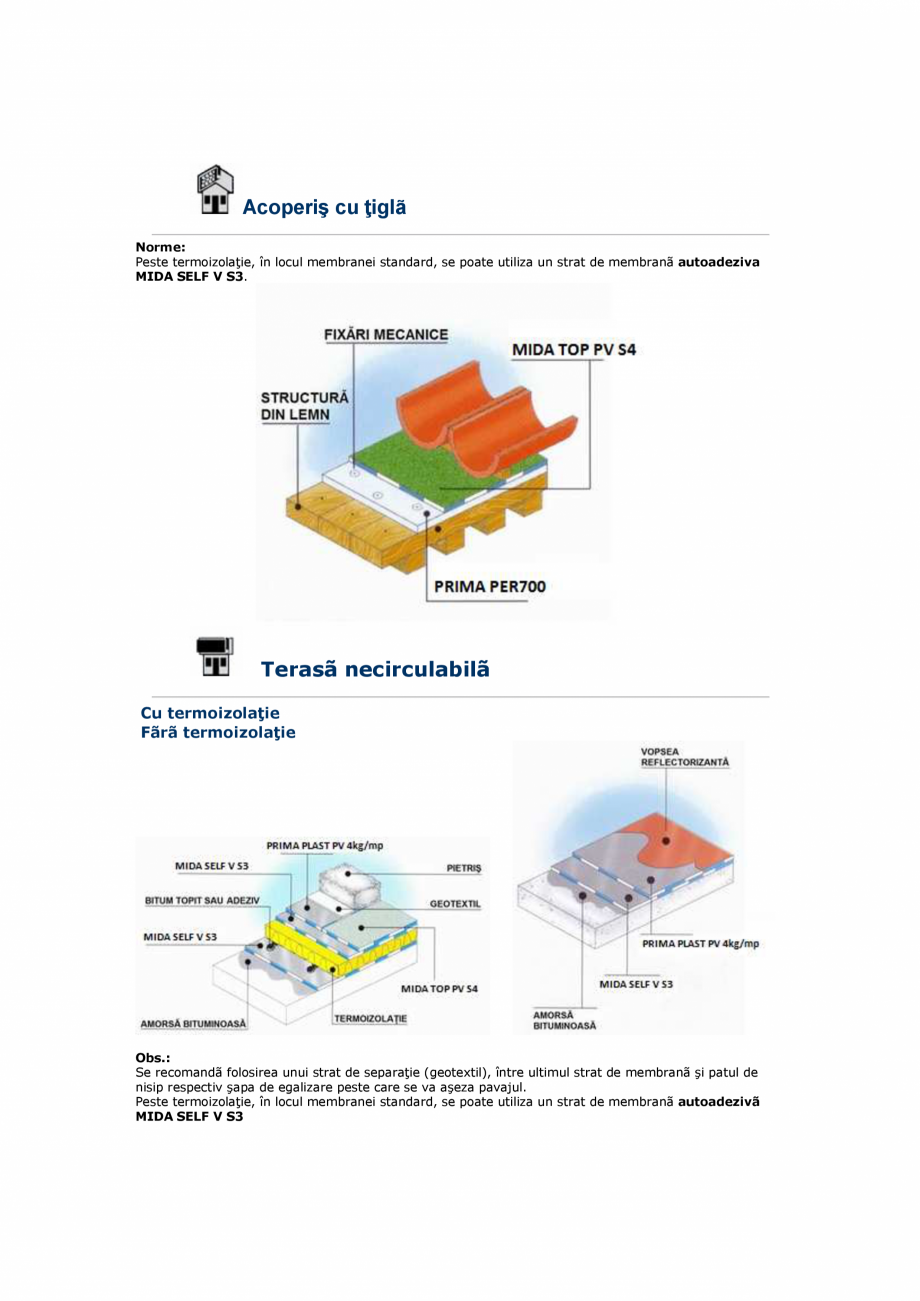 Pagina 1 - Schita membrane termosudabile   SASOIA Fisa tehnica Romana Acoperiş cu ţiglã Norme:...