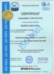 Certificat managementul calitatii / Hidroizolatii cu membrane termosudabile / SASOIA