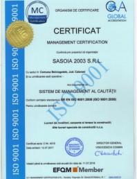 Certificat managementul calitatii