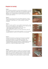 Etape de montaj caramida aparenta FELDHAUS KLINKER