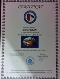 Certificat hornar Victor Stan