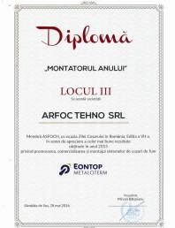 "Diploma ""Montatorul anului"" Metaloterm"
