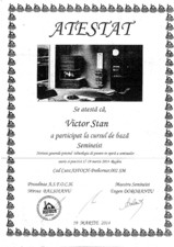 certificat seminist Victor Stan