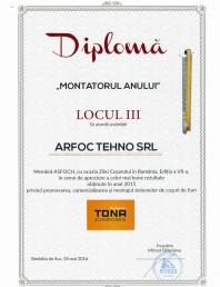 """Diploma """"Montatorul anului"""" TONA"""