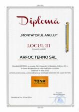 """Diploma Tona """"MONTATORUL ANULUI"""" ARFOC TEHNO"""