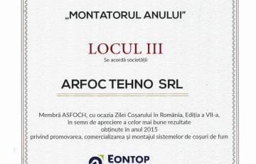 "Diploma Metaloterm ""MONTATORUL ANULUI"" ARFOC TEHNO"