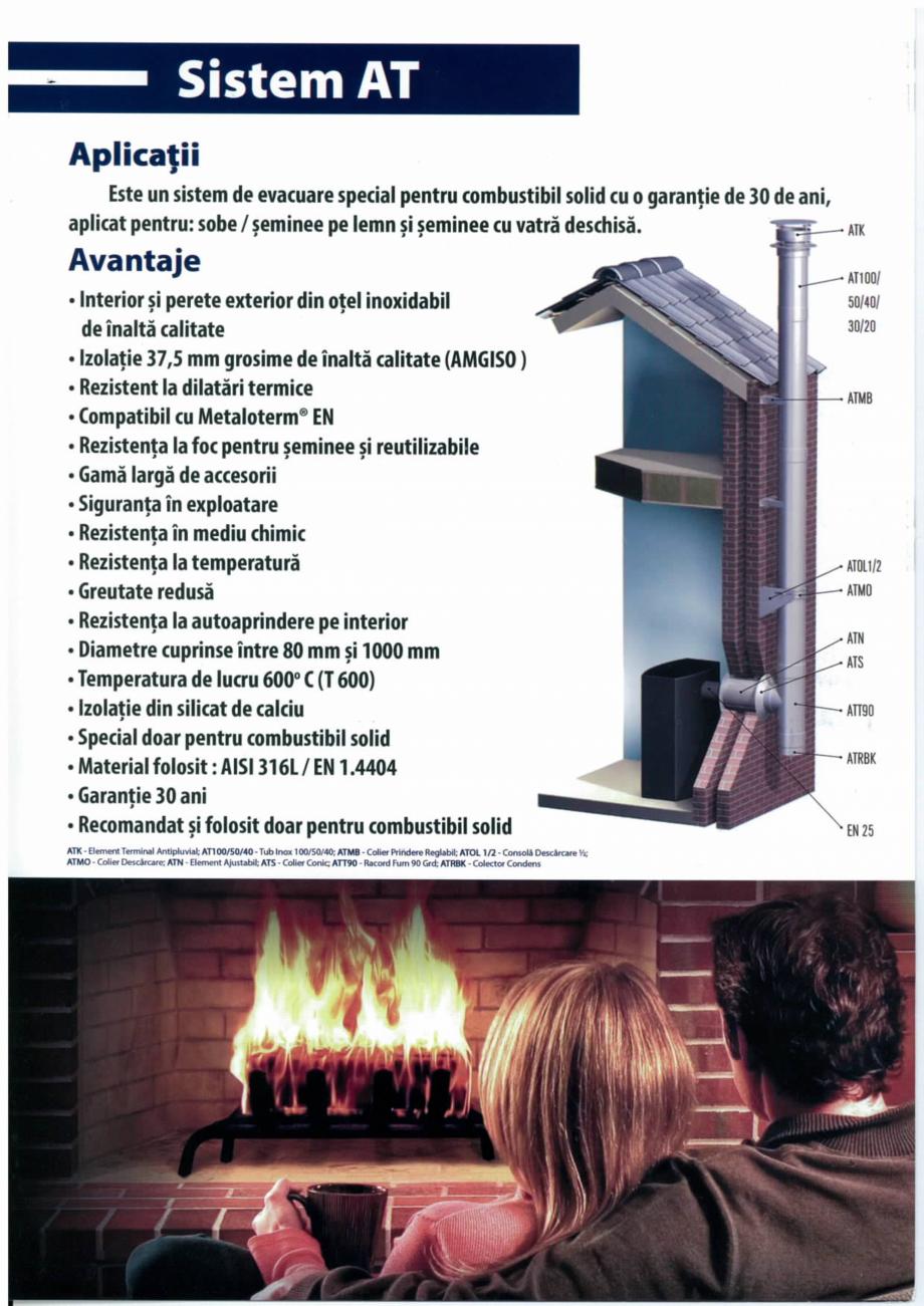 Fisa tehnica Sisteme de cosuri de fum din inox AT Metaloterm Cosuri de fum din inox ARFOC TEHNO  - Pagina 1