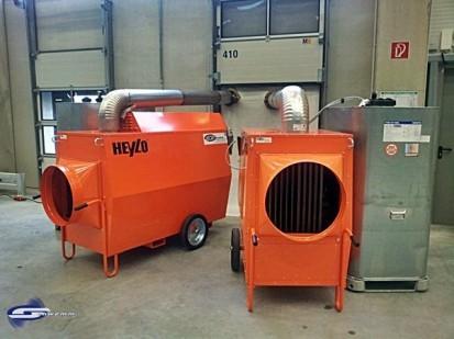 Aeroterme si tunuri de caldura pe motorina / Tun de caldura pe motorina