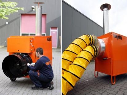 Aeroterme si tunuri de caldura pe motorina / Tun de caldura pe motorina 160kW pentru hale, depozite, corturi