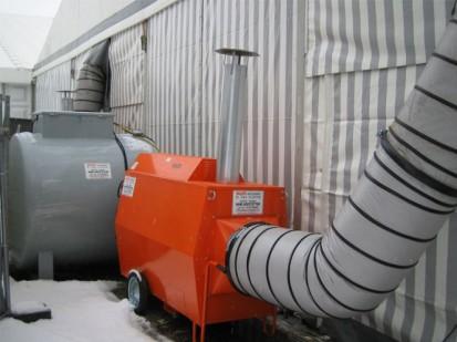 Aeroterme si tunuri de caldura pe motorina / Tun de caldura pe motorina 170kW pentru hale, depozite, corturi