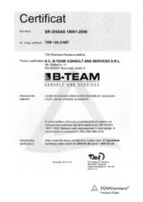 Certificat ISO 18001:2008