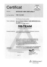 Certificat ISO 14001:2005 editia 2