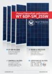 Fisa tehnica pentru panoul fotovoltaic policristalin WATTROM - WT 255P