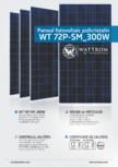 Fisa tehnica pentru panoul fotovoltaic policristalin  WATTROM - WT 300P
