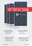 Fisa tehnica pentru panoul fotovoltaic monocristalin WATTROM - WT 300M