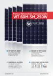 Fisa tehnica pentru panoul fotovoltaic monocristalin WATTROM - WT 250M