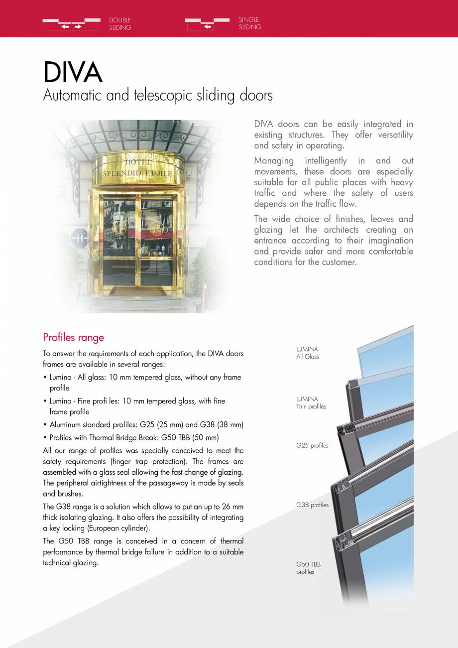 Pagina 2 - Usi glisante curbate PORTALP Glisante DIVA Catalog, brosura Engleza nswer the...