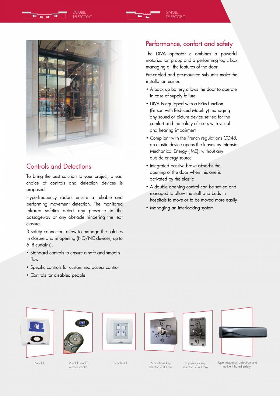 Pagina 3 - Usi glisante curbate PORTALP Glisante DIVA Catalog, brosura Engleza es  G50 TBB profiles ...