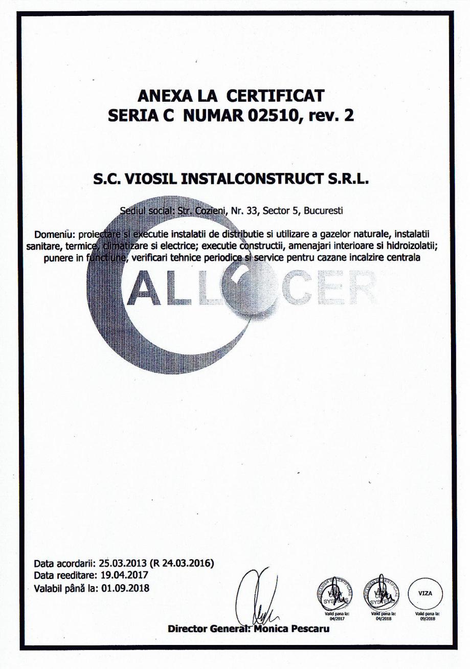 Pagina 2 - Certificat sistemul de management al calitatii ISO 9001 14000 18001  Certificare produs...
