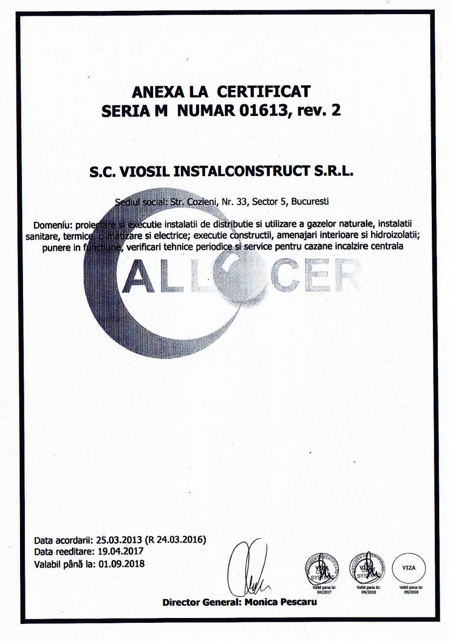 Pagina 4 - Certificat sistemul de management al calitatii ISO 9001 14000 18001  Certificare produs...