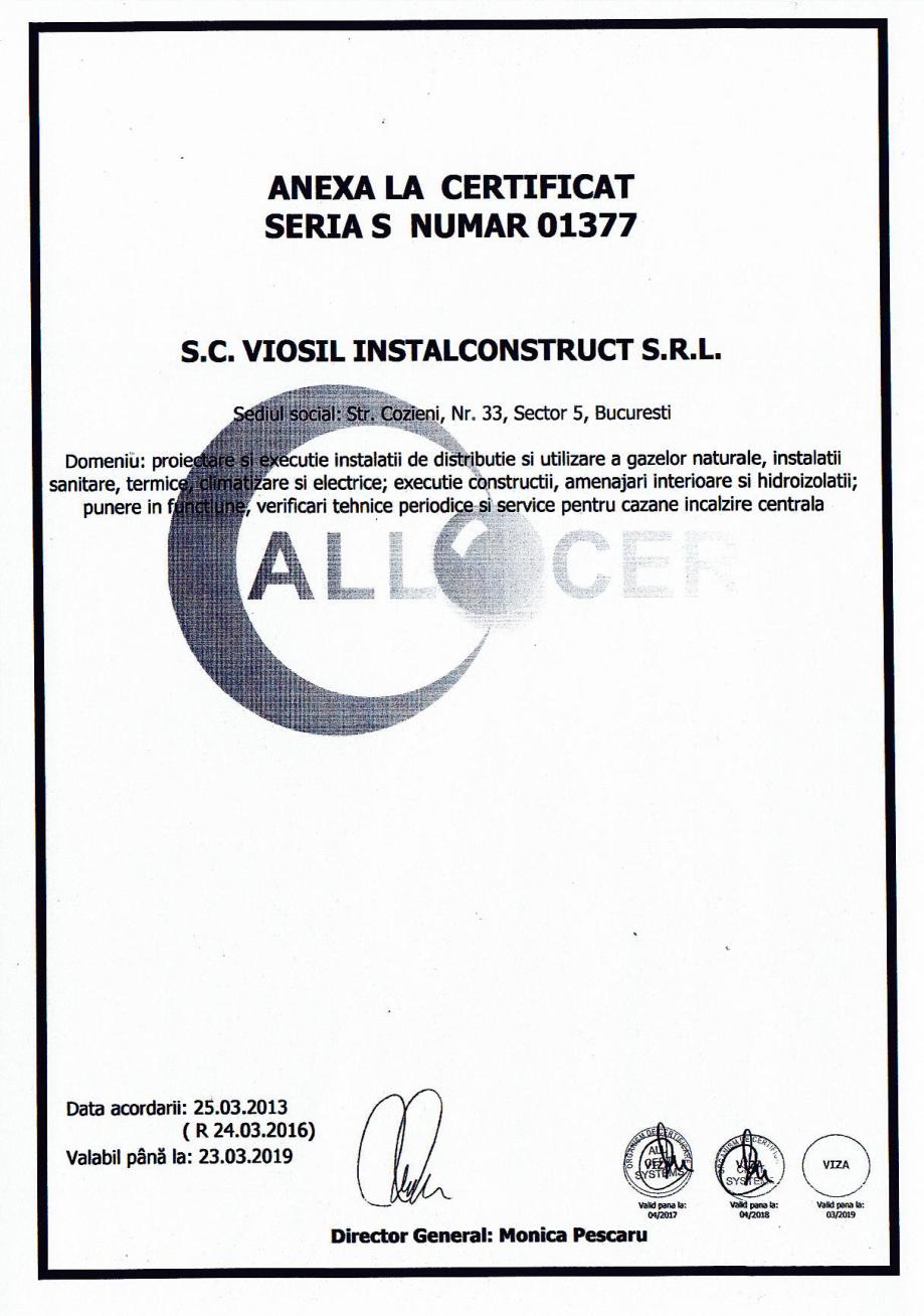 Pagina 6 - Certificat sistemul de management al calitatii ISO 9001 14000 18001  Certificare produs...