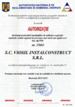 Autorizatie ANRE destinata proiectarii instalatiilor de utilizare a gazelor naturale
