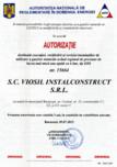 Autorizatie ANRE destinata executiei, verificarii si reviziei instalatiilor de utilizare a gazelor naturale