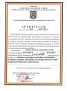 Autorizatie pentru instalarea si intretinerea sistemelor si a instalatiilor de limitare/ stingere a incendiilor